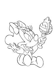Minnie bebe hochet  Coloriage Minnie  Coloriages pour enfants