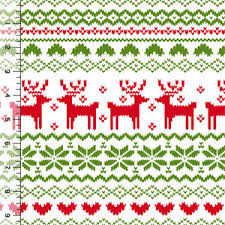 christmas pattern knit fabric awesome source for knits fairisle reindeer pattern on white cotton