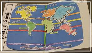 World Map With Ocean Labels by Teel U0027s Treats The World Interactive Notebook Activity