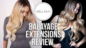 bellamy hair extensions bellami balayage tang extensions review
