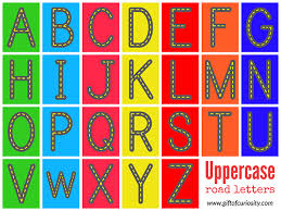 printable alphabet tracing letters free free road letters printable for learning the alphabet gift of
