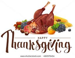 happy thanksgiving lettering text rich harvest stock vector