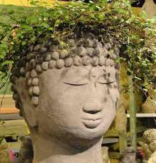 Large Head Planters Unique Planters Stone Head Planter Garden Urns Vinyl Planter