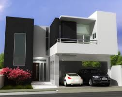 Minimalist Contemporary Custom Home Plans With Large Garage Design - Modern homes design plans