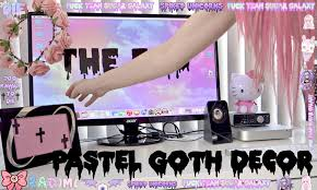 Purple Gothic Bedroom by Pastel Goth Desk Decor Youtube