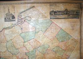 Map Of Berks County Pa An Overview Of Pennsylvania Mapping Circa 1850 To 1900
