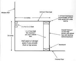 window in plan build a window seat with storage