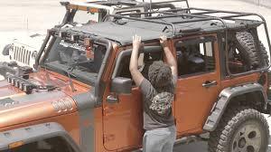 jeep wrangler 4 door top rugged ridge exo top installation for 4 door jeep wrangler