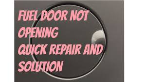nissan defective fuel door repair u0026 solution youtube