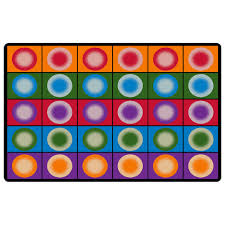 Dot Rug Spots Seating Carpet Educational Classroom Rug