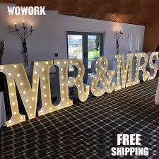 wedding backdrop font aliexpress buy led illuminated light up letters wedding