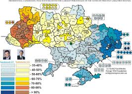 2004 Presidential Election Map by Ukraine Presidential Election 2004 Electoral Geography 2 0