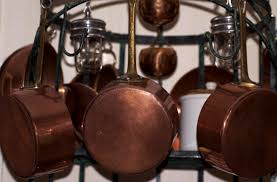 pots and pans copper grow your organizing skills