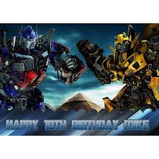 transformers bumblebee and optimus party cake topper transformers optimus prime bumblebee birthday cake personalized