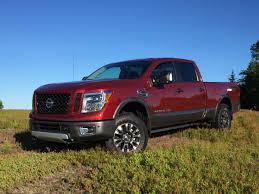 nissan titan half ton on the road review nissan titan xd pro4x crew cab mount desert