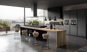 cuisine noir cuisine noir mat et bois impressionnant photos cuisine noir mat ikea
