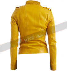 ladies motorcycle leathers lauren women u0027s yellow leather motorcycle jacket
