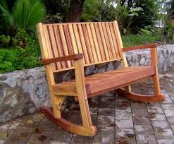 massive wooden rocking bench outdoor wood rocking bench