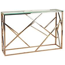 rose gold console table amazon com cortesi home ch at656214 tavy contemporary glass console