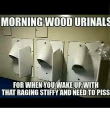 Urinal Checkmate Meme - morning wood urinals for when youwake up with that raging stiffy