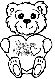 fluffy teddy bear i love you coloring pages batch coloring