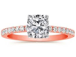 Rose Gold Wedding Rings by Rose Pink Gold Engagement Rings From Mdc Diamonds Nyc