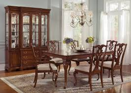 dining room storage furniture ansley manor 577 t4490 dining table in cinnamon w options