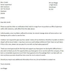 resignation letter format perfect sample resignation letter after