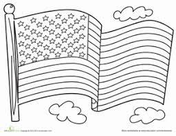 American Flag Worksheet Education Com Flag Color Page
