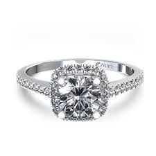 princess cushion cut engagement rings halo engagement ring center cathedral setting 43