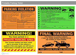 free printable parking violation tickets fake and funny parking