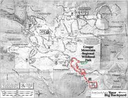 China Peak Map by Trails Northwest Cougar Mountain Wilderness Peak