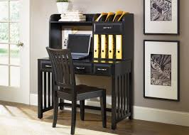 hampton bay writing desk u0026 hutch in black finish by liberty