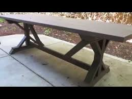 Build Wooden Patio Table by How To Build An Outdoor Patio Table Youtube