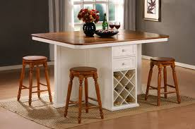 Kitchen Awesome  Tall Island Table Or Bar Height And Chairs - Kitchen table island