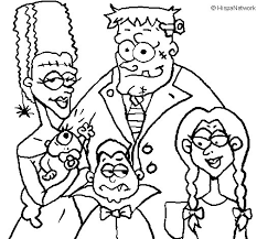 family monsters coloring coloringcrew