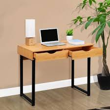 Wood Computer Desk Maple Wood Computer Table With 2 Drawers U2013 Langria