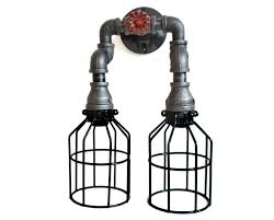 industrial pipe light fixture industrial pipe lighting black pipe wall sconce w knob bathroom