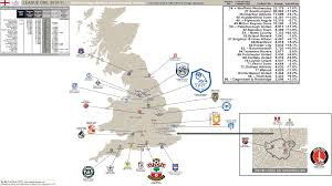 Football Conference Table League One 2010 11 Season U2013 Attendance Map 2009 10 Figures