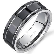 mens black titanium wedding rings buy black modern style comfort fit mens 8mm black titanium wedding