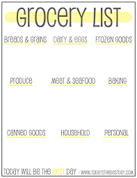 Grocery Shopping List Template 7 Best Images Of Printable Grocery List Organizer Free Printable