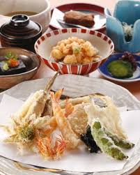 abe cuisine abe ginza tempura fried shrimp and vegetables gurunavi