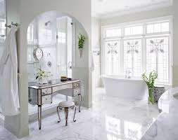 mirrored makeup vanity table mirrored makeup vanity in arched nook transitional bathroom