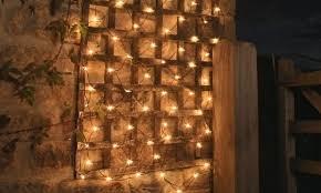 100 led solar net mesh lights 2 pack groupon