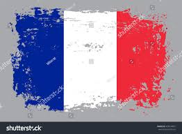 grunge france flag french flagvector stock vector 433674991