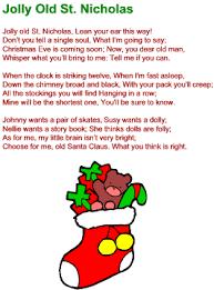 jolly st nicholas lyrics