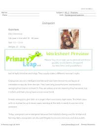 fillable online orangutan comprehension primary leap worksheets