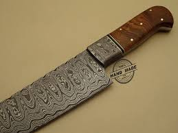 Kitchens Knives by European Chef Knife In High Carbon Steel Linear Shiny Pattern With
