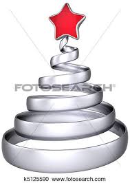 Silver Christmas Tree Baubles - stock illustrations of modern silver christmas tree bauble