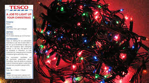 companies that put up christmas lights tesco is genuinely advertising a job for a christmas light untangler